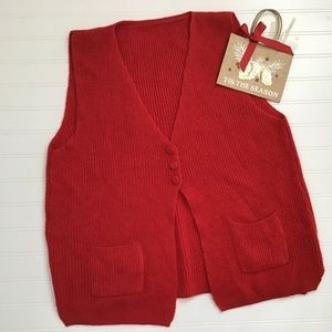 Ladies Red Knit Vest